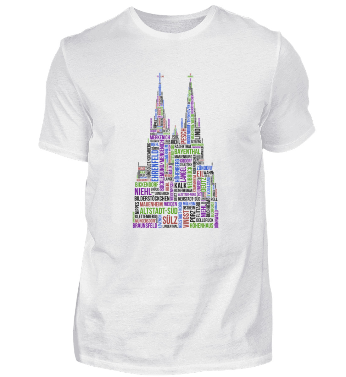 86 Veedel bunt T-Shirt - Herren - Herren Shirt-3