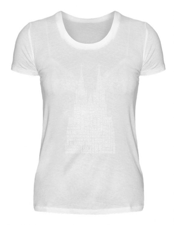 86 Veedel weiß T-Shirt - Damen - Damenshirt-3