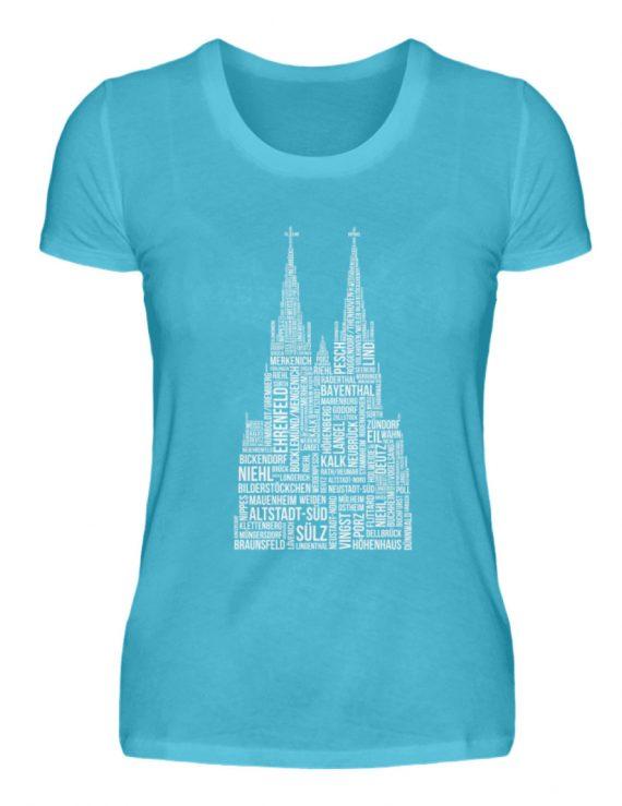 86 Veedel weiß T-Shirt - Damen - Damenshirt-2462