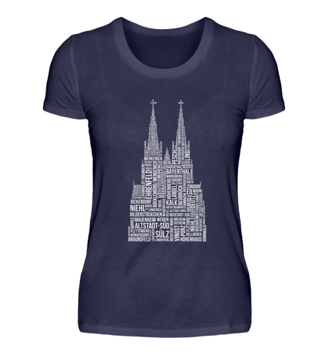 86 Veedel weiß T-Shirt - Damen - Damenshirt-198