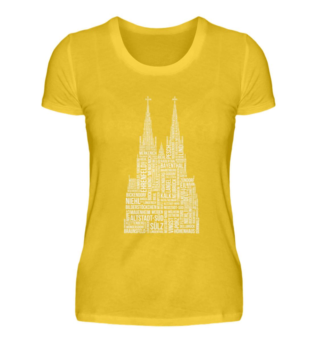 86 Veedel weiß T-Shirt - Damen - Damenshirt-3201