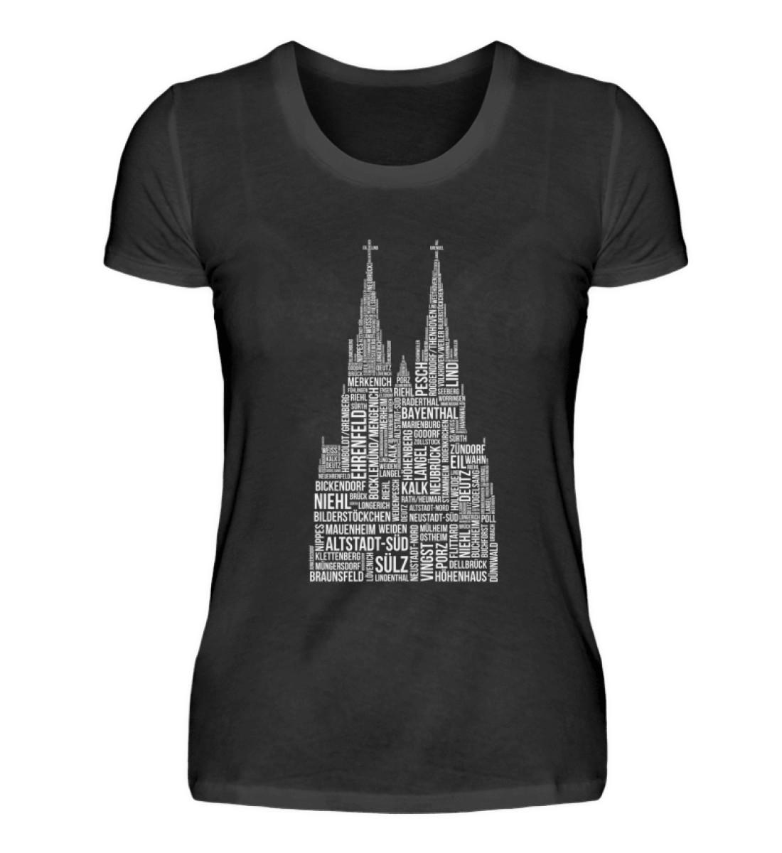 86 Veedel weiß T-Shirt - Damen - Damenshirt-16