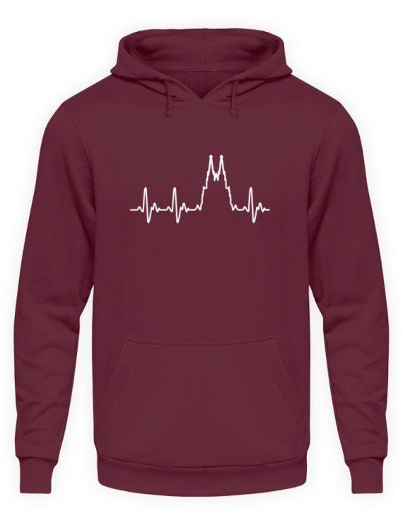 Herz für Köln T-Shirt - Hoodie - Unisex Kapuzenpullover Hoodie-839