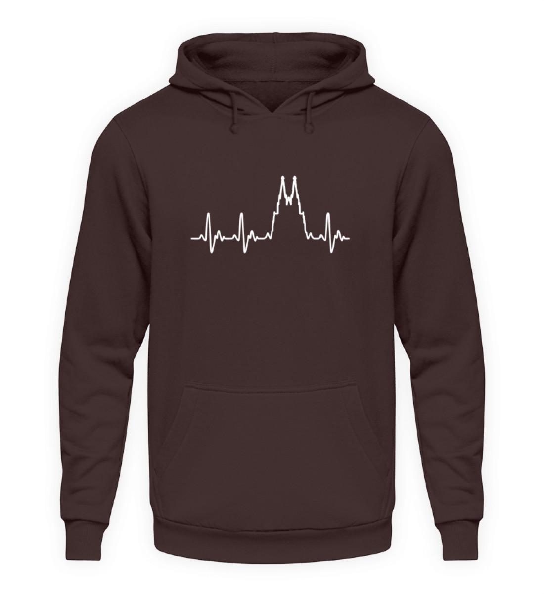 Herz für Köln T-Shirt - Hoodie - Unisex Kapuzenpullover Hoodie-1604