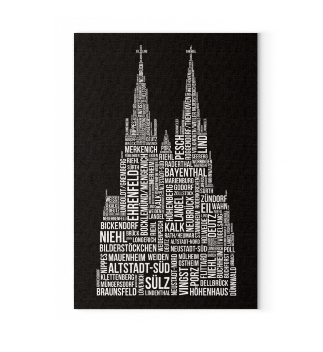 86 Veedel schwarz /weiß - Leinwand Leinwand mit Keilrahmen --6846