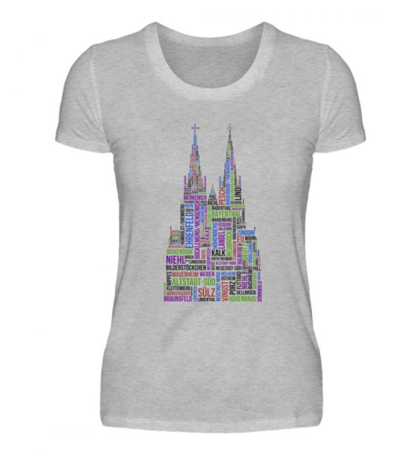 86 Veedel bunt T-Shirt - Damen - Damenshirt-17