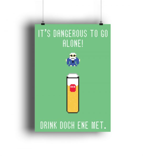 Drink doch ene met - Poster A3 - DIN A3 Poster (hochformat)-3
