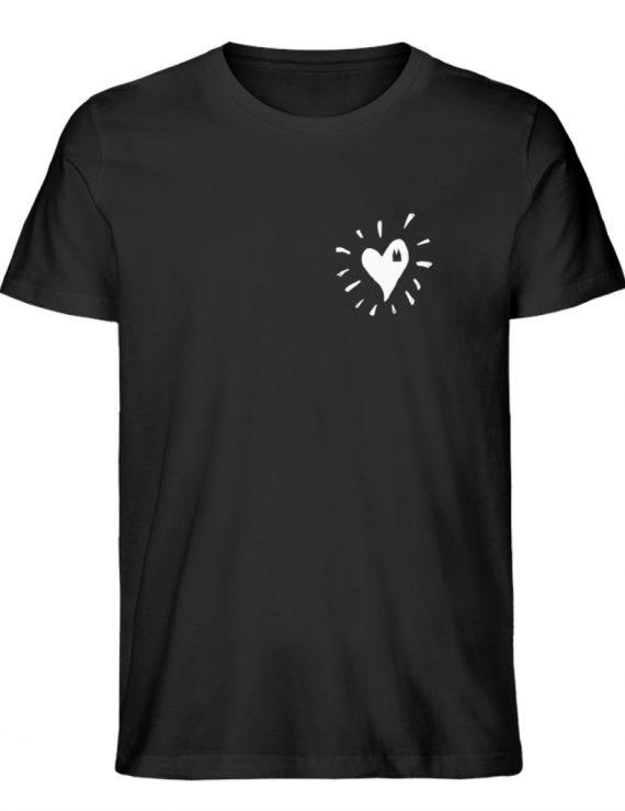 Herz Köln Bio Mann weiß - Herren Premium Organic Shirt-16
