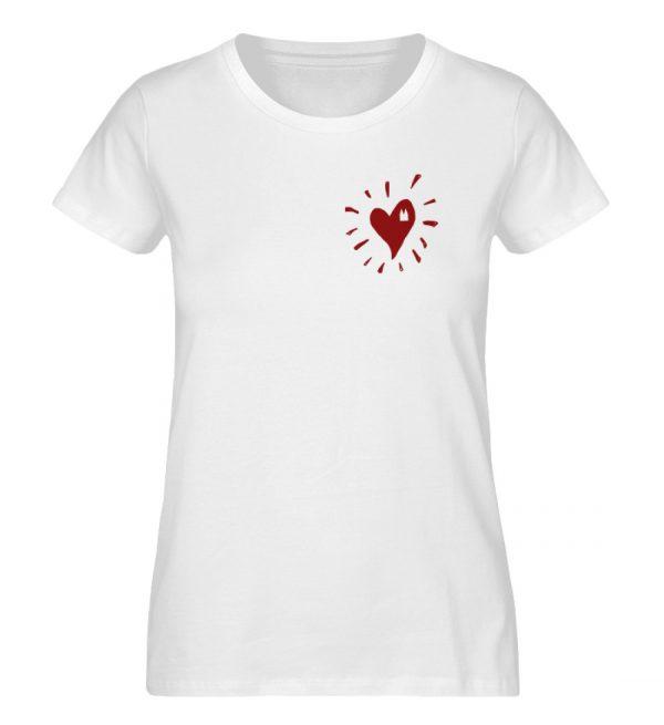 Herz Köln Bio Frau weiß - Damen Premium Organic Shirt-3