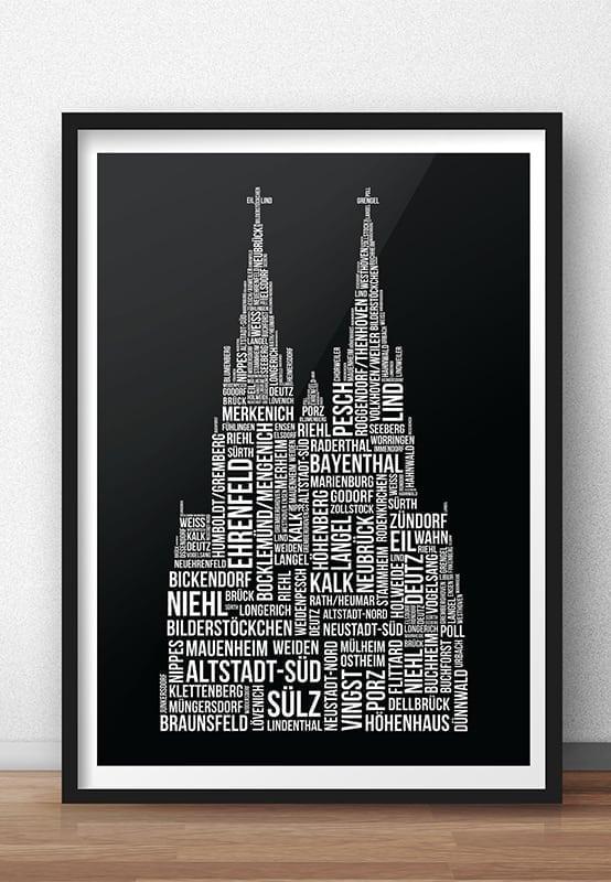 86 Kölner Veedel - En Stadt - E Jeföhl schwarz/weiß