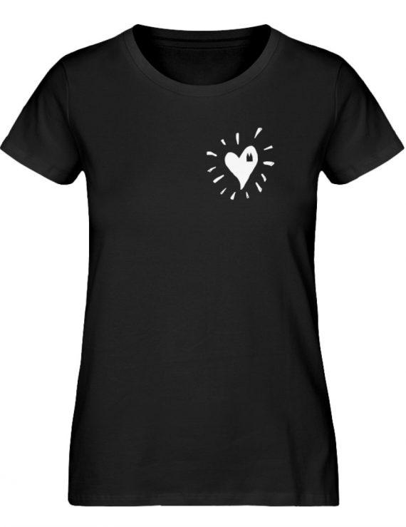 Herz Köln Bio Frau weiß - Damen Premium Organic Shirt-16