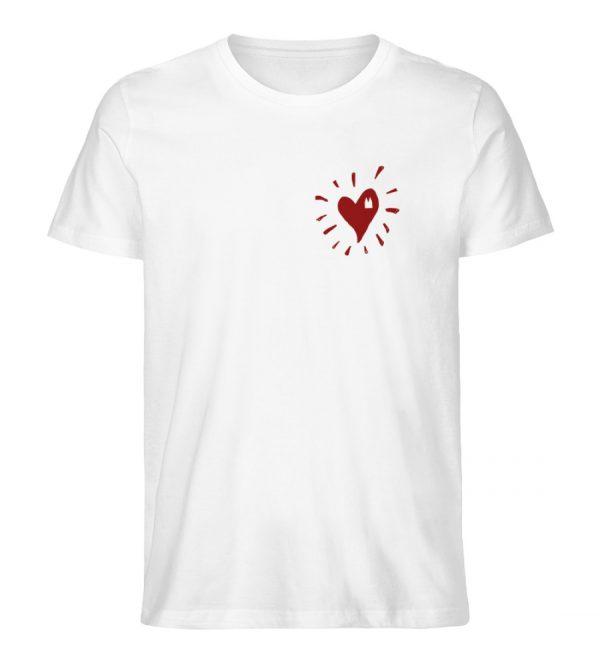 Herz Köln Bio Mann rot - Herren Premium Organic Shirt-3