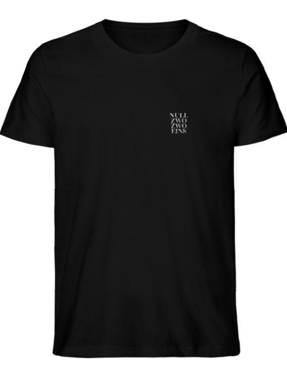 Null Zwo Zwo Eins Männer - Herren Organic Melange Shirt-16