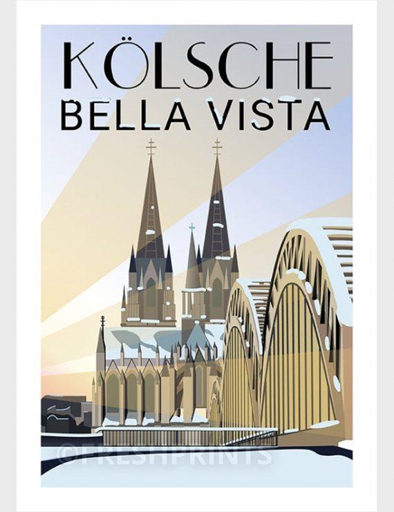 Kölsche Bella Vista Poster
