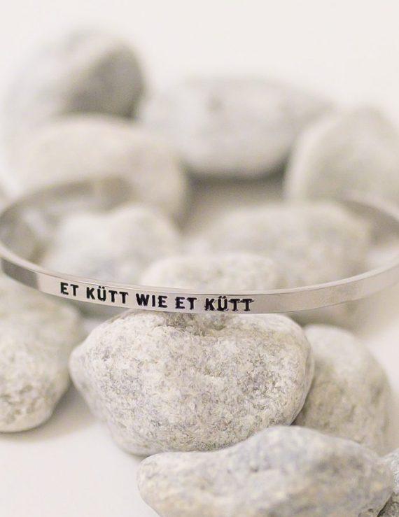 Armreif Kölsches Grundgesetz Et kütt wie et kütt Köln Schmuck