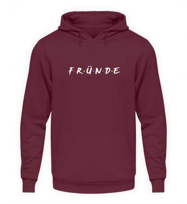Fründe - bunt - Unisex Kapuzenpullover Hoodie-839